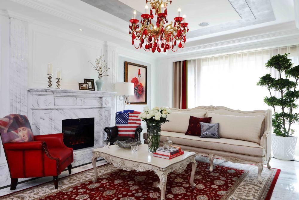 古典豪华欧式风格三居室内设计装修图