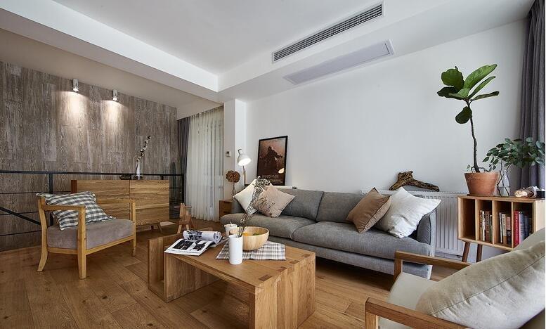 实木简约设计风格客厅家装效果图