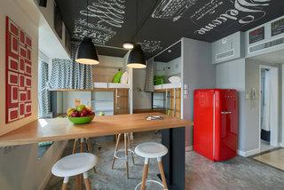 时尚个性北欧风一居室餐厅吧台设计