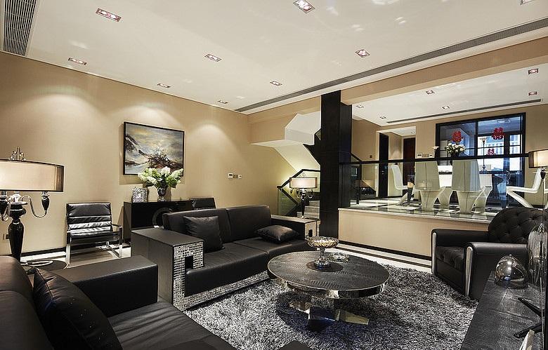 精致奢华现代风跃层客厅装饰大全