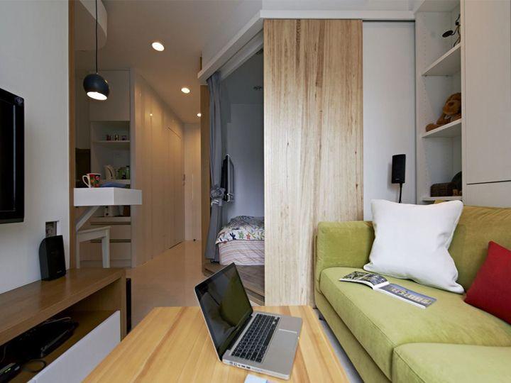 小户型单身公寓室内北欧装修隔断设计图
