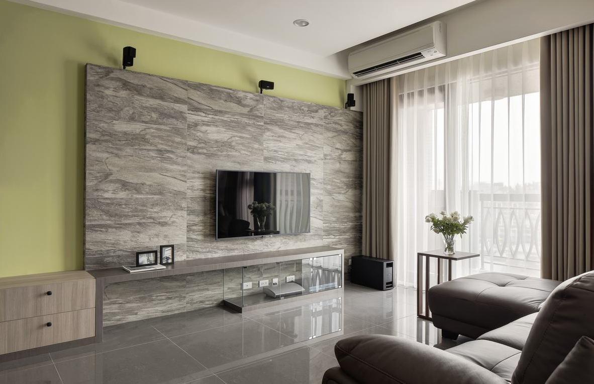 时尚清新现代简约装饰两居装饰效果图