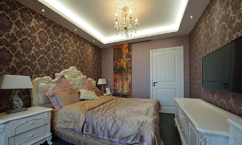 奢华欧式新古典装修风格卧室效果图大全