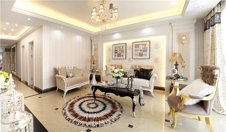 145平简美华丽欧式风格三居室内装修美图