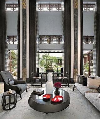 时尚奢华精美现代新中式别墅效果图