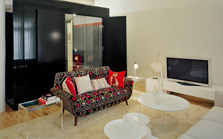 风雅现代混搭小客厅布艺沙发装饰图