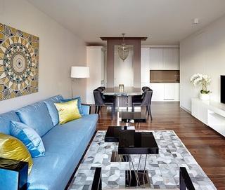 65平精致时尚北欧风混搭小户型二居室设计