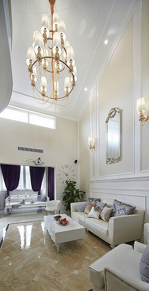 奢华精致时尚简欧风复式家居设计效果图大全