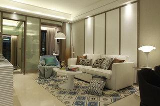 小户型现代简约雅致一室两厅装修欣赏图