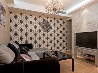 最新风雅黑白色系现代风格小户型一居室设计图片