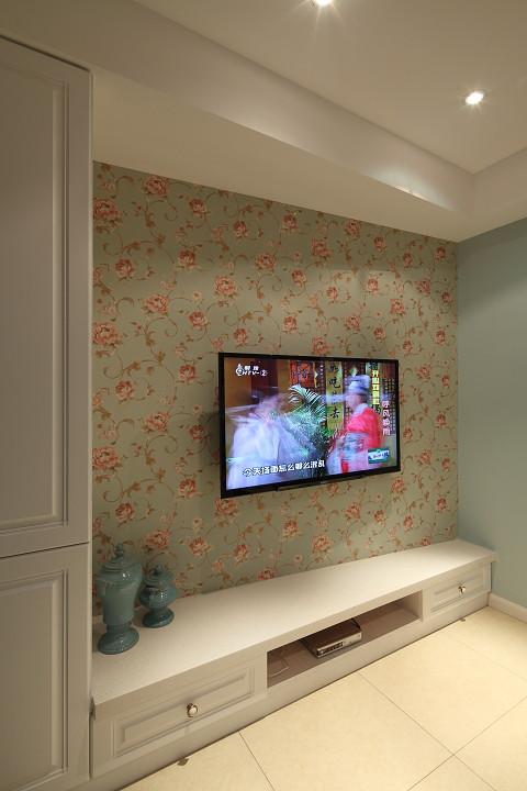 现代时尚设计家居电视背景墙墙纸装饰图