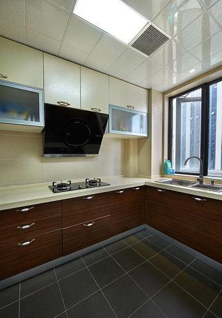 复古美式家装厨房橱柜装修效果图