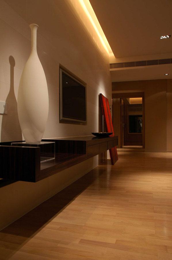 素雅简约中式风格客厅电视背景墙案例图
