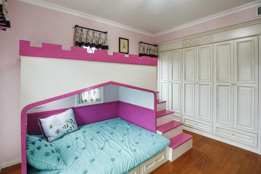 粉色温馨公主房装饰效果图