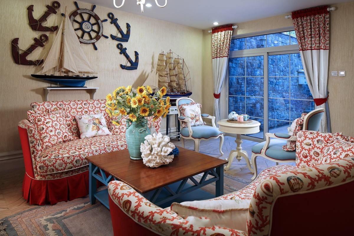 色彩多样明亮地中海风格别墅室内装潢图