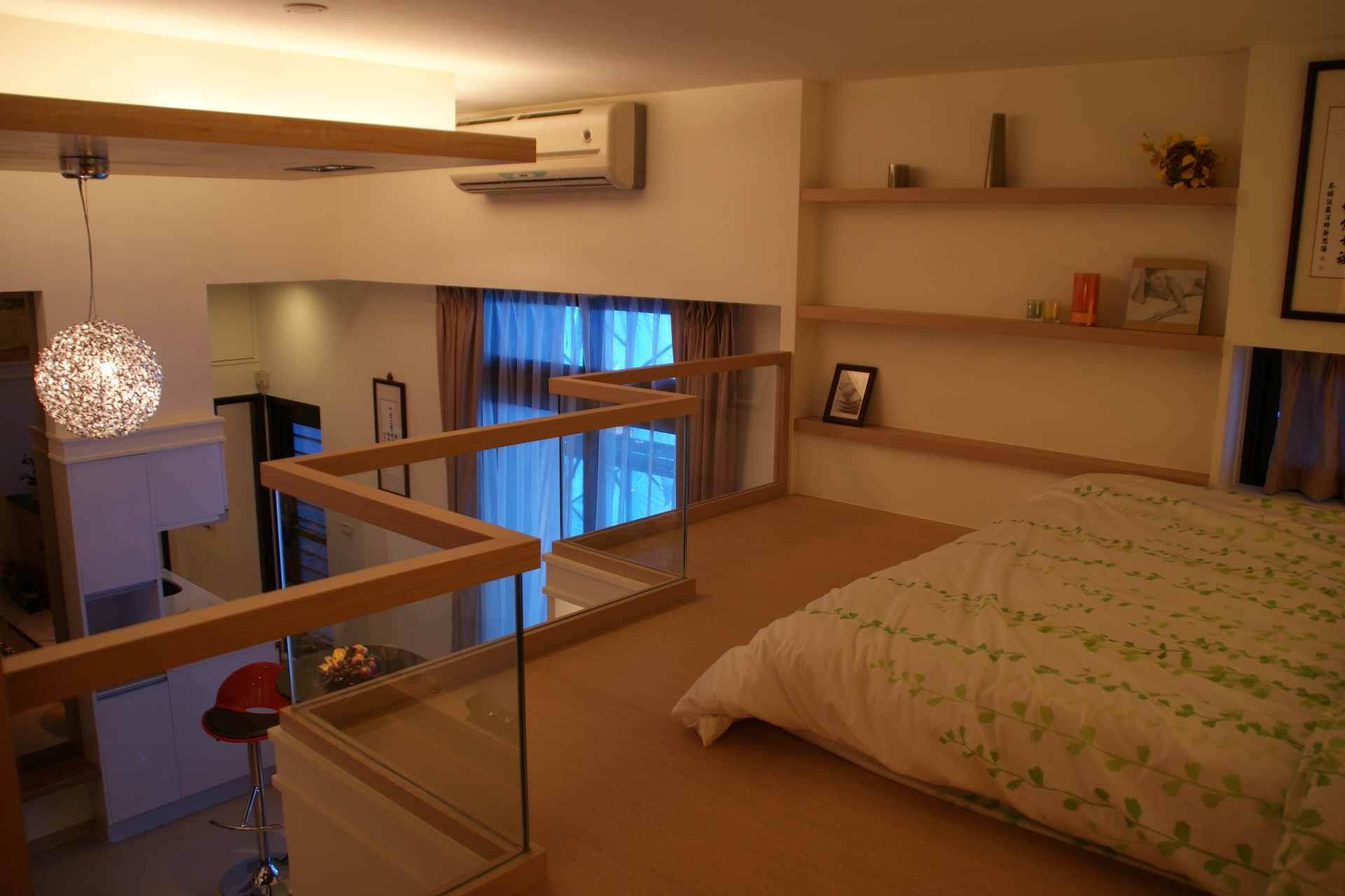创意现代小户型复式卧室S型护栏设计图