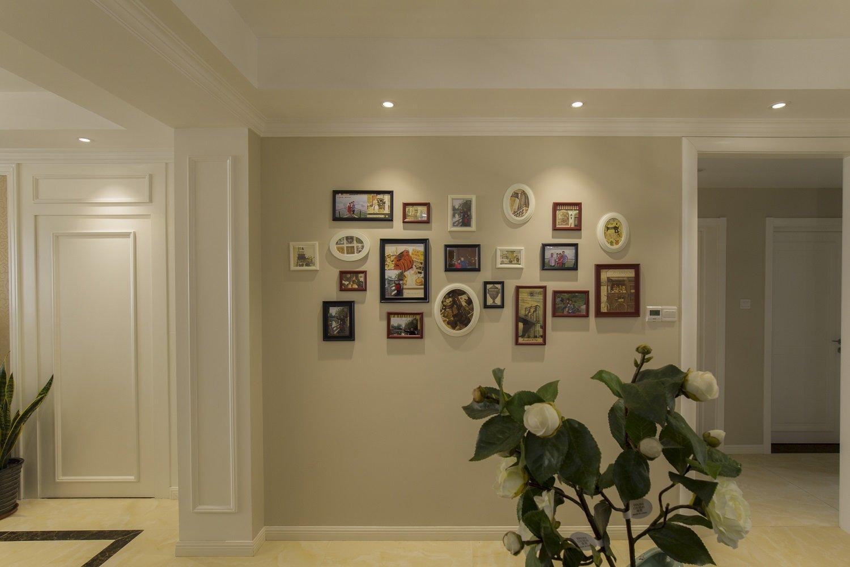 简约唯美美式家装照片墙效果图