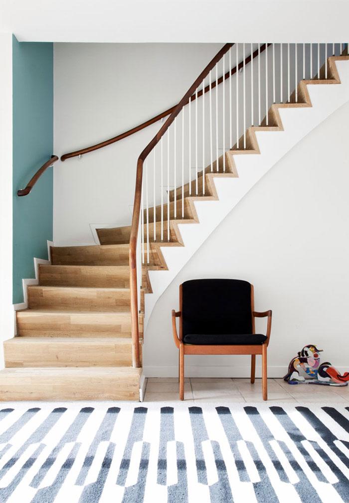 浪漫个性北欧家装原木楼梯效果图