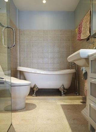 时尚简欧风格卫生间瓷砖装饰效果图