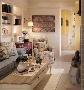清新唯美简欧设计二居室装潢美图
