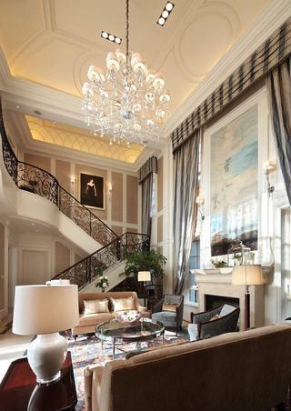 高贵优雅欧式新古典别墅装修效果图