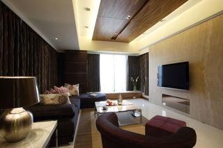 低奢现代实木风格三居室设计效果图