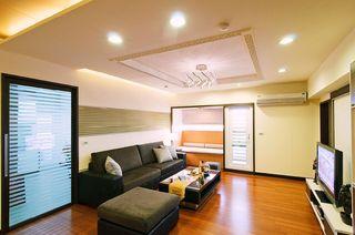 优雅清新简约中式风格客厅装修效果图