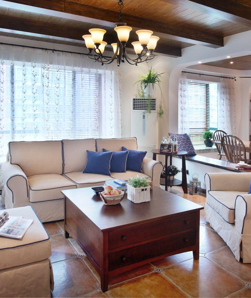 休闲美式田园风两居室装修效果图片