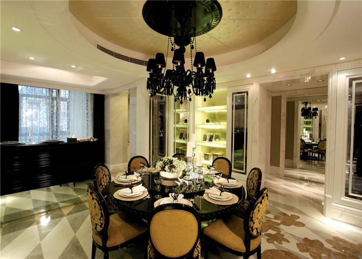 潮流摩登欧式风格三居室室内装修欣赏图