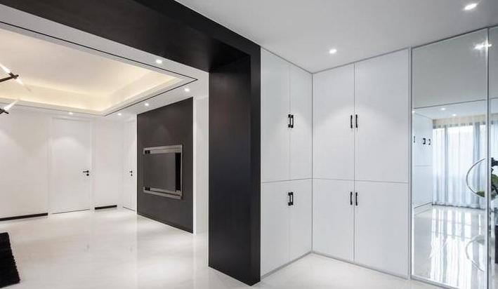 现代简约设计玄关鞋柜隔断效果图