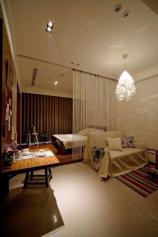时尚现代简约装修一居室小公寓装修效果图