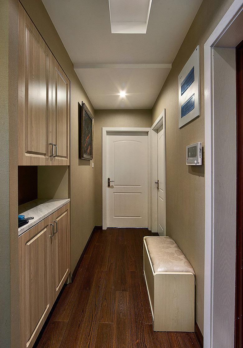 简约美式家装室内玄关过道效果图