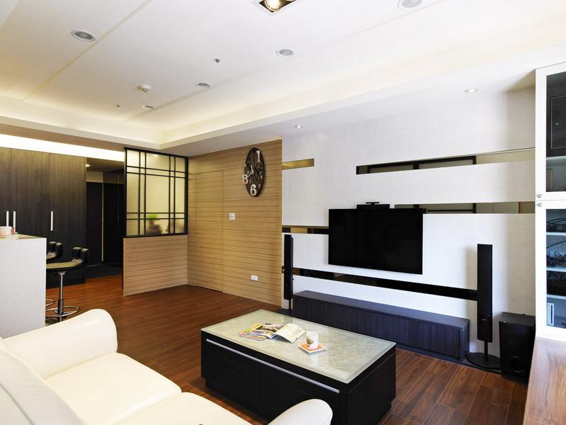 简约素雅三居室室内设计装潢效果图