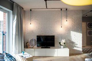 黑白个性北欧风格一居室公寓装饰效果图