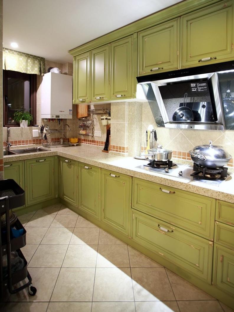 怀旧美式风格家居厨房设计装潢图