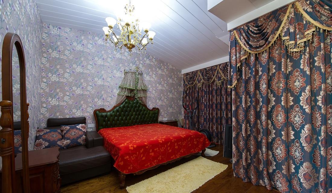 混搭欧式风格卧室软装搭配装饰效果图片