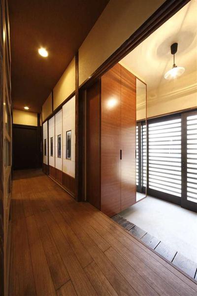 宜家日式家庭装修玄关过道效果图