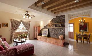 紫色系唯美欧式乡村田园风格三居室装修