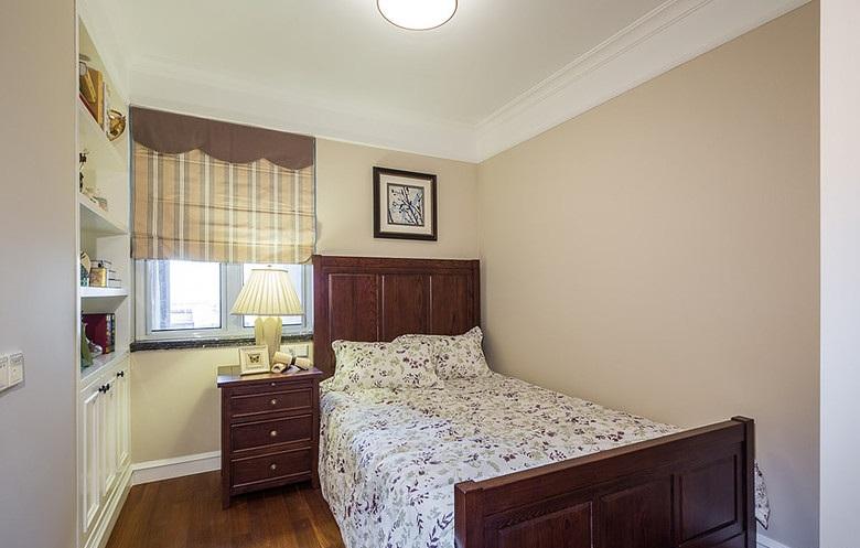 复古美式乡村风卧室效果图