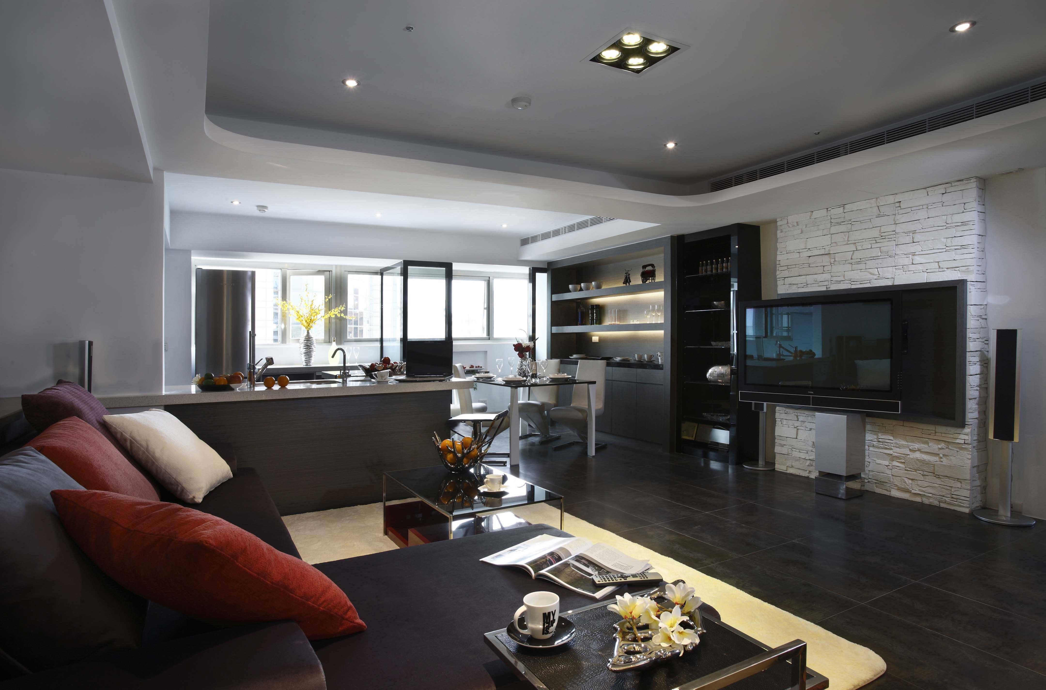 现代时尚风韵三居室内装修设计图