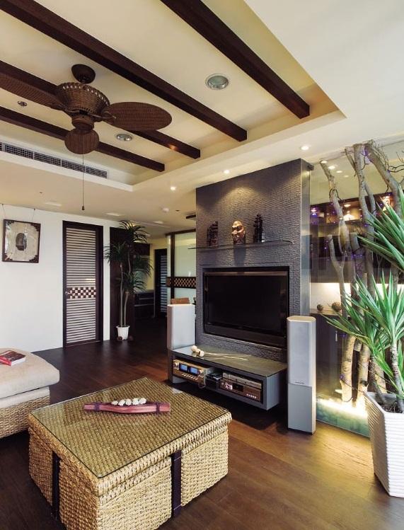 原汁原味特色东南亚风格别墅室内装潢欣赏图