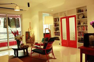75平时尚现代小户型室内隔断设计图