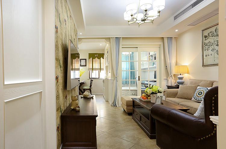 75平方美式设计风格小户型室内装修效果图