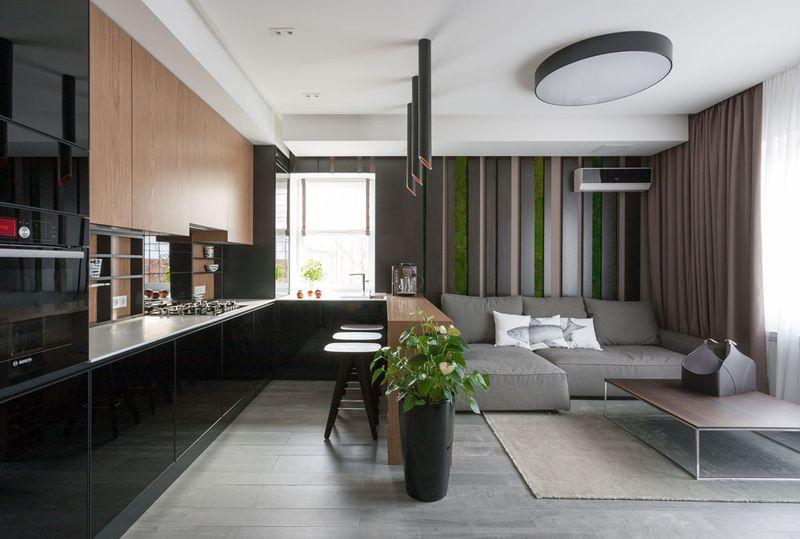 现代装潢风格两居室室内家装设计效果图