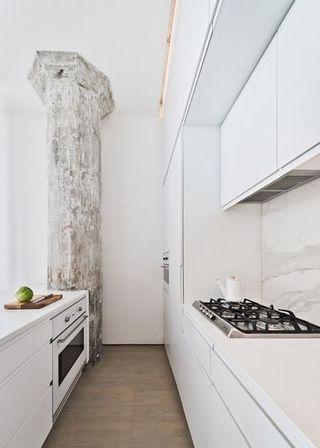 白色极简主义厨房设计装修图