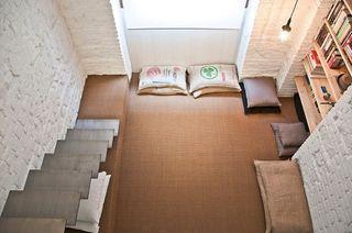 58平简约木质日式宜家风格小户型复式楼装修图片