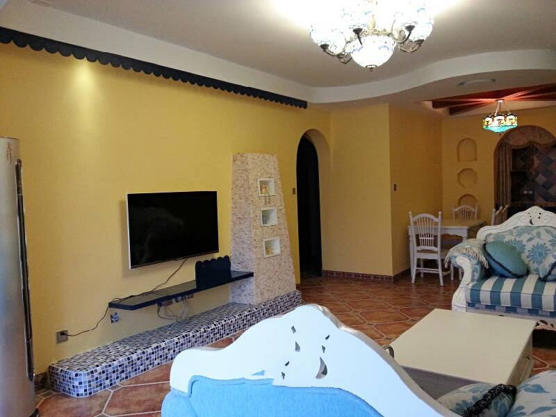 浪漫温馨地中海风格二居室内隔断设计图
