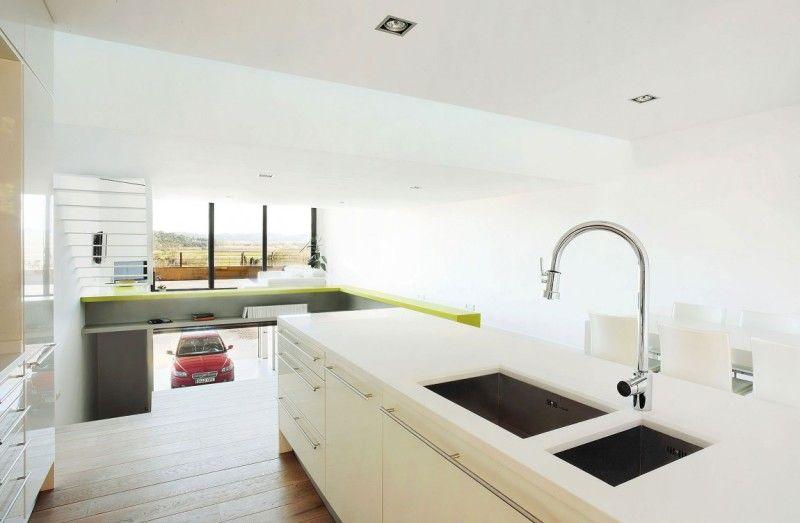 现代简约风家居白色厨房效果图
