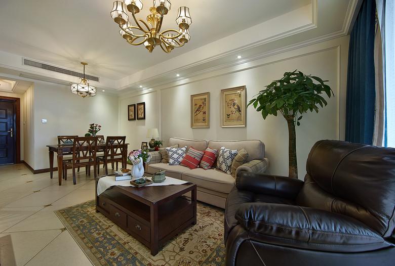 85平米二居室美式设计风格家装效果图