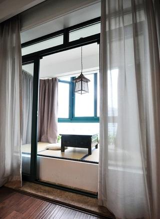 复古中式家装室内飘窗榻榻米设计装修图